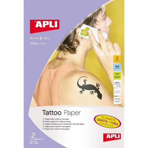 Papel Tattoo Apli  A4