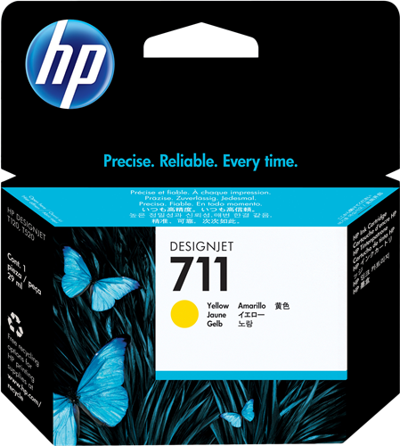 Cartucho HP 711 CZ132A 29ml. Yellow