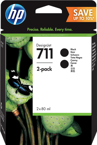 Cartucho HP 711 P2V31A - Pack 2 Negros