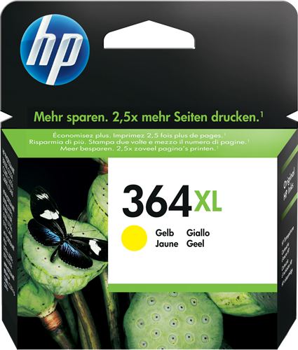Cartucho HP 364XL CB325 Yellow.
