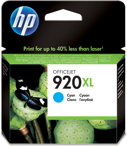 Cartucho HP 920XL CD972 Cyan.