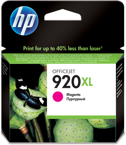 Cartucho HP 920XL CD973 Magenta.