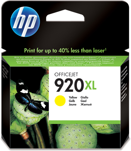 Cartucho HP 920XL CD974AE Amarillo