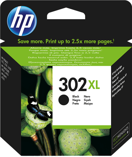 Cartucho HP 302XL F6U88 Negro.