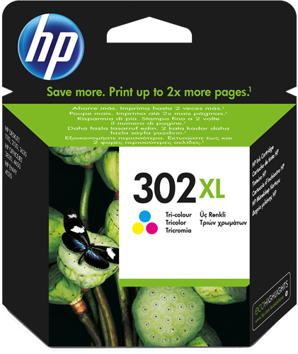 Cartucho HP 302XL F6U67 Color.