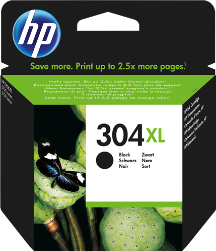 Cartucho HP 304XL N9K08 Negro.
