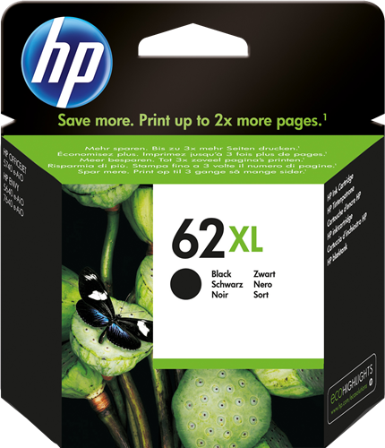 Cartucho HP 62XL C2P05 Negro.