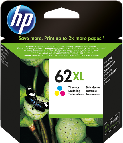 Cartucho HP 62XL C2P07 Color.