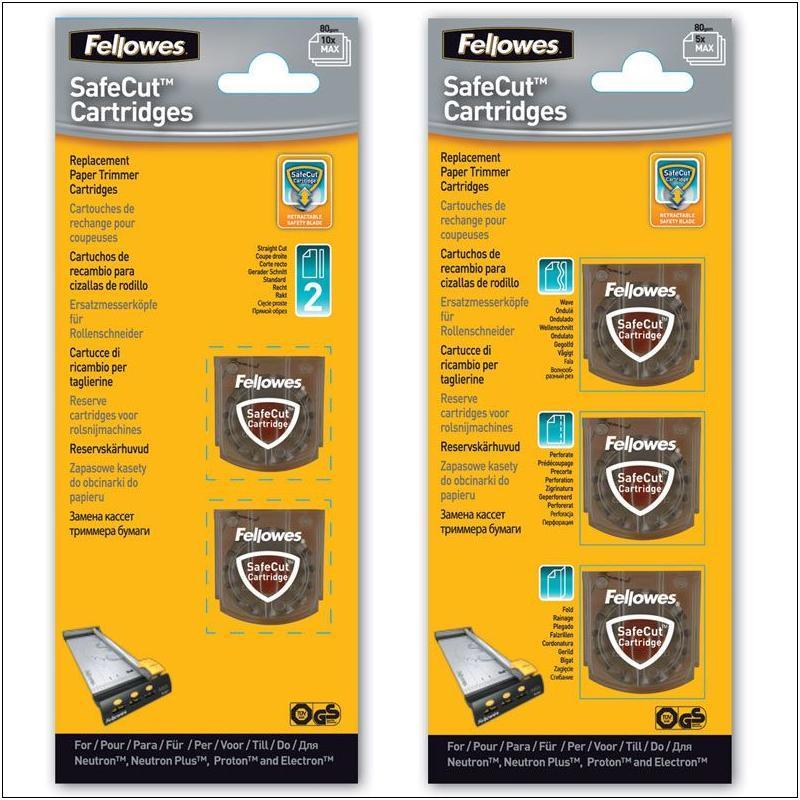 Pack 2 cuchillas de repuesto para cizalla Fellowes Safecut