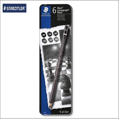 Set Lapices Staedtler Lumograph Black.