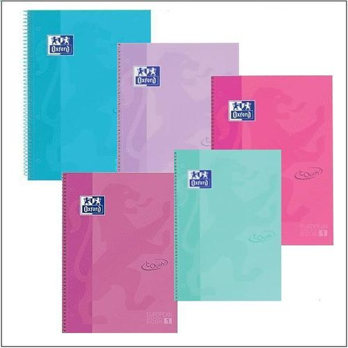 Cuaderno Oxford EuropeanBook 1 Touch Pastel